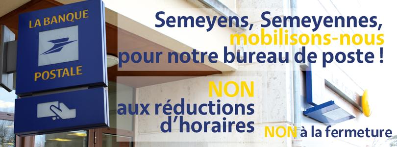 pour le maintien du bureau de poste mairie de semoy. Black Bedroom Furniture Sets. Home Design Ideas